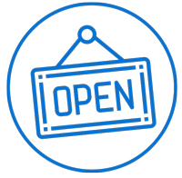 Illustration of open sign