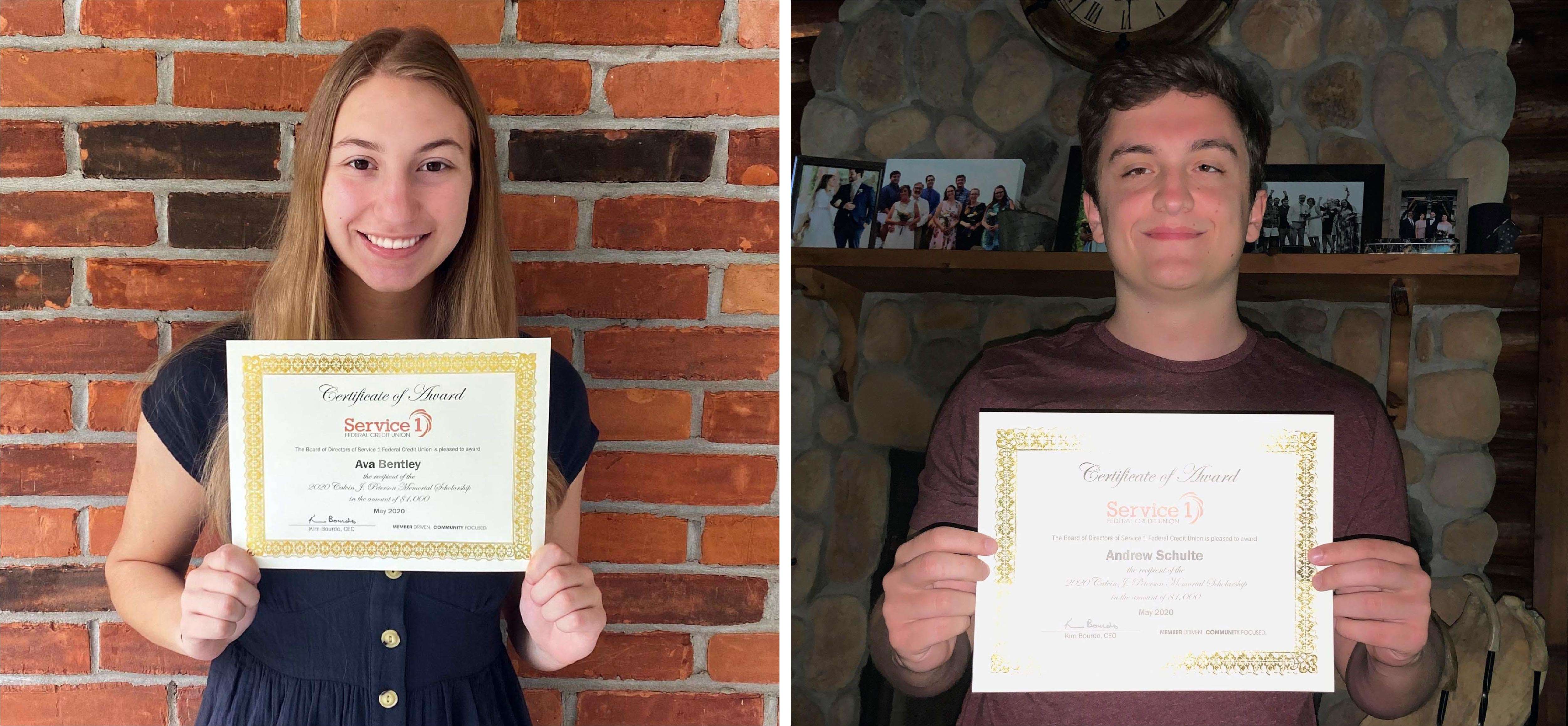 2020 Scholarship Recipients Ava and Andrew