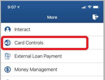 Card Control - Mobile Card Control