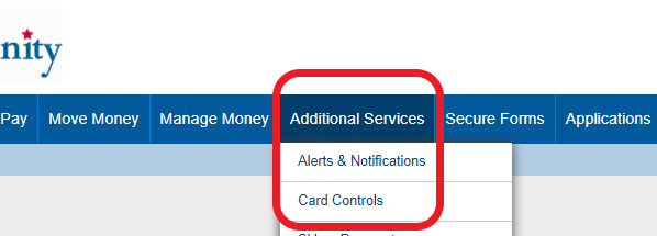 Card Control Additional Services